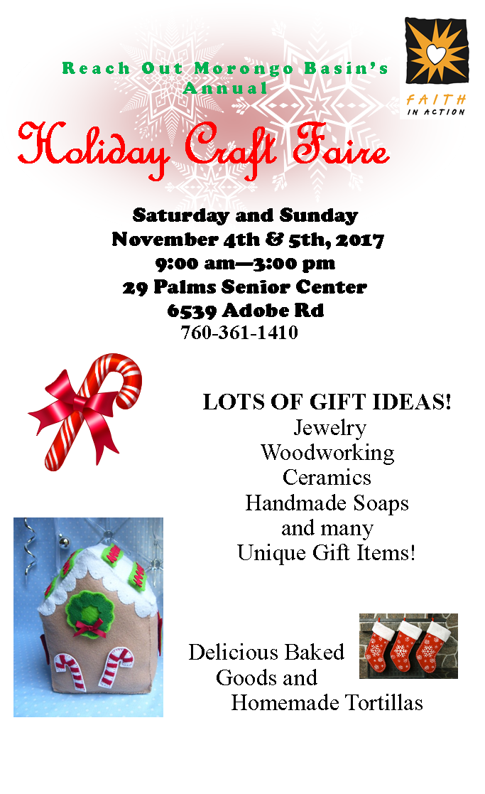 Holiday Craft Faire Flyer 2017
