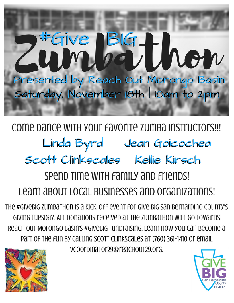 #GiveBIG Zumbathon Flyer