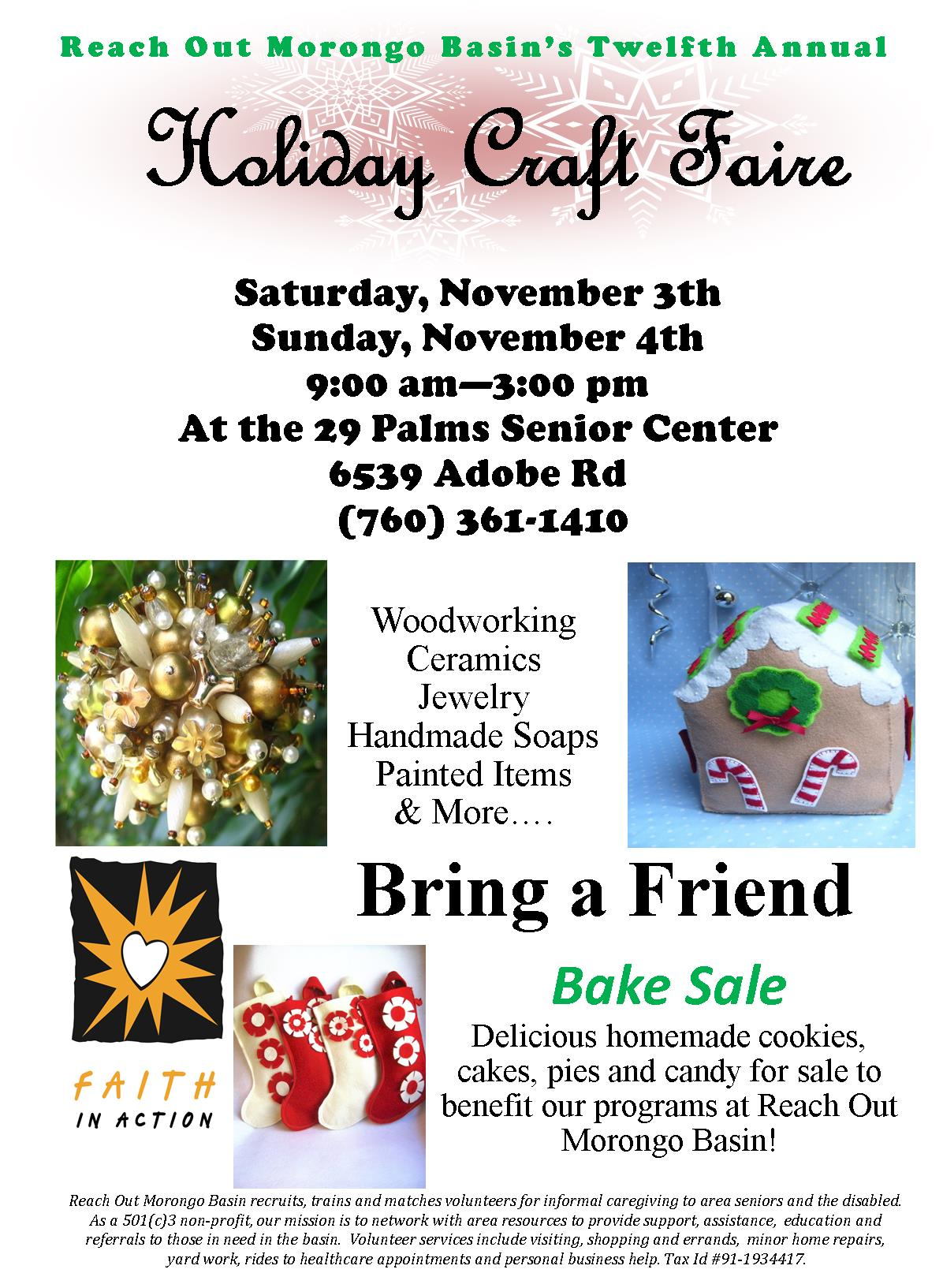 Holiday Craft Faire 2018 Flyer
