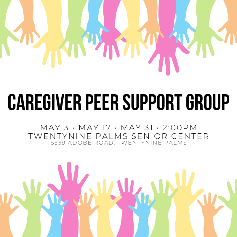 Caregiver Peer Support Group Meeting May Schedule